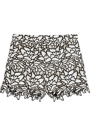 Guipure lace shorts