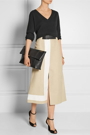 Victoria Beckham Talullah leather clutch