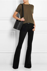 Victoria Beckham Leather and suede bucket bag