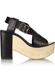 Thakoon Addition Addition Bassy woven leather platform sandals