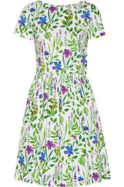 Floral-print stretch-cotton dress