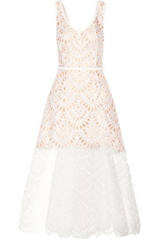 Broderie anglaise silk-organza maxi dress