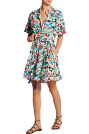 Ashley printed cotton-poplin dress