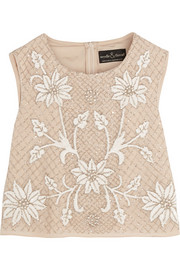 Embellished georgette top