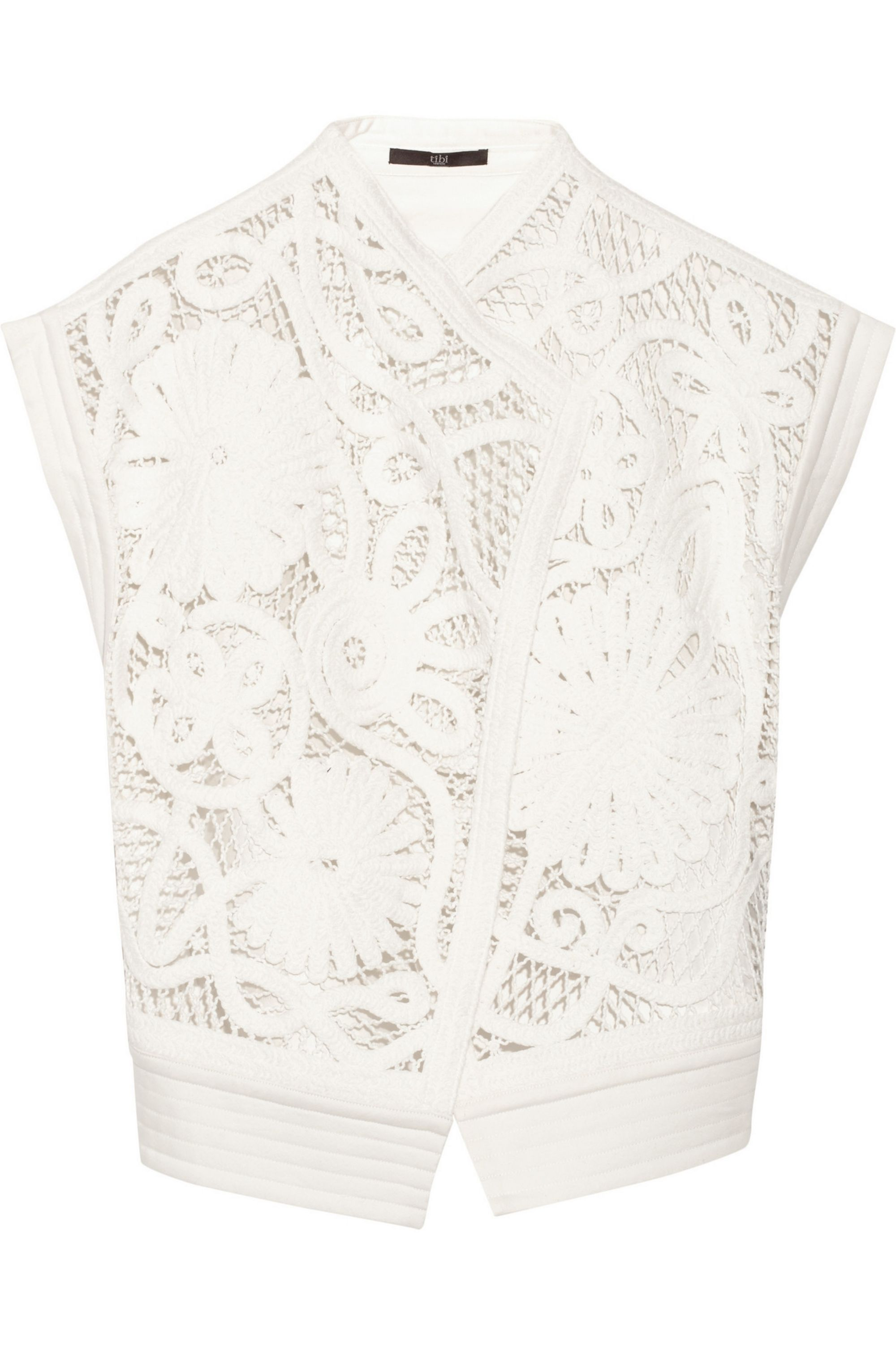 Tibi Mateo crocheted cotton vest