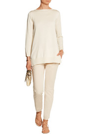 Gia silk and cotton-blend sweater