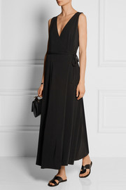 Yana stretch-jersey crepe wrap dress