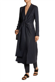 Vantin cotton-blend burlap wrap coat