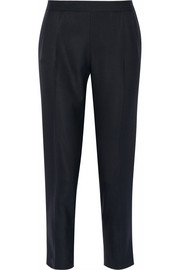 The Row Nocu cropped wool and silk-blend hopsack straight-leg pants