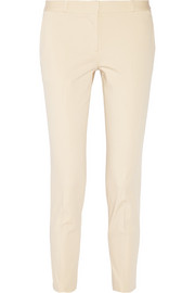 Cordan stretch-cotton poplin tapered pants