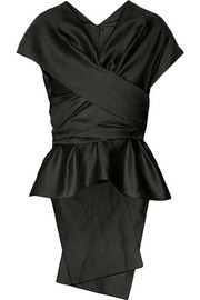 The Row Frances draped shantung top