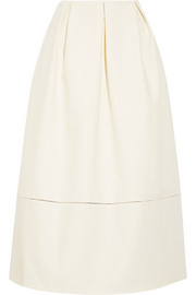 Patrice cotton-gabardine midi skirt