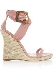 Burberry Shoes & Accessories Leather espadrille wedge sandals