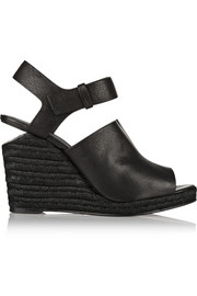 Tori leather espadrille wedge sandals