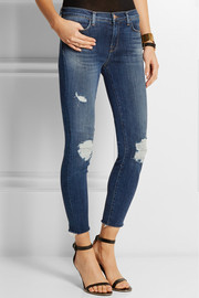 J Brand 8226 mid-rise distressed skinny jeans