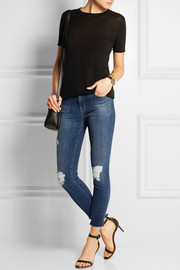 8226 mid-rise distressed skinny jeans