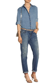 Jake distressed mid-rise slim boyfriend jeans