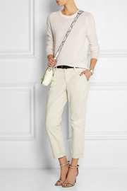 Alex stretch-cotton twill slim-fit pants