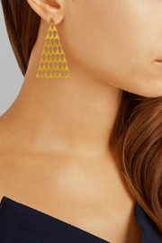 Pyramid 22-karat gold earrings
