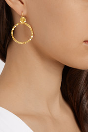 22-karat gold hoop earrings