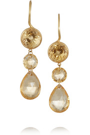 22-karat gold citrine earrings