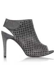 Sofia perforated suede peep-toe boots