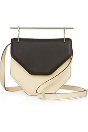 Amor Fati two-tone leather shoulder bag