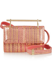 Fabricca mini metallic watersnake shoulder bag