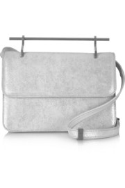 La Fleur Du Mal metallic suede shoulder bag