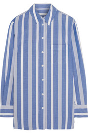 Margaux oversized striped cotton shirt