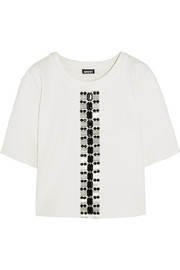 DKNY Embellished ponte top