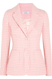 Fenice gingham seersucker stretch-cotton blazer