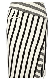 Arcadia striped cotton-blend canvas pencil skirt