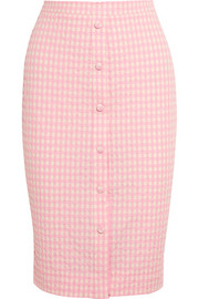 Balthazar gingham seersucker stretch-cotton pencil skirt