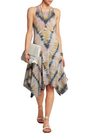 Tie-dyed cotton-blend jersey dress