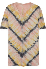 Tie-dyed cotton-blend jersey T-shirt