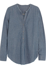 Cotton-chambray blouse