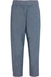Raquel Allegra Cotton-chambray tapered pants