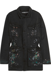 Paint-splattered cotton jacket