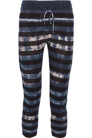 Tie-dyed merino wool and cashmere-blend leggings