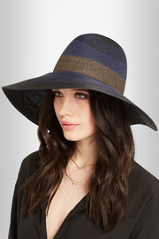 Palm Beach wide-brim woven paper yarn hat