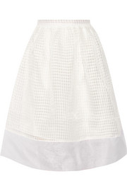 Avenue embroidered organza skirt
