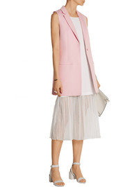 Kisa crepe and gauze midi dress