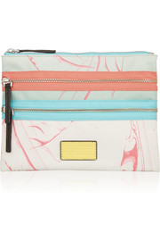 Marc by Marc Jacobs Milk Marble printed canvas pouch
