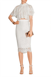 Heather lace midi skirt