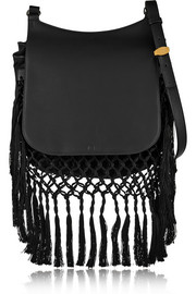 The Row Hunting Bag 11 fringed leather shoulder bag
