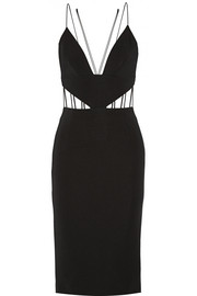 Cutout stretch-ponte dress