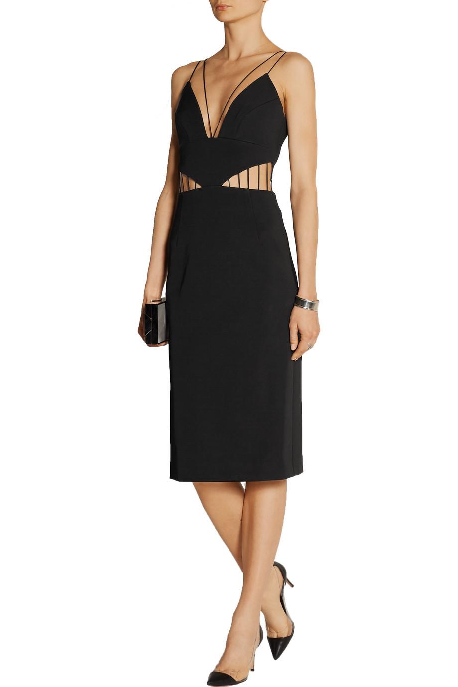 e4dda51c3f40 Cushnie et Ochs Cutout stretch-ponte dress
