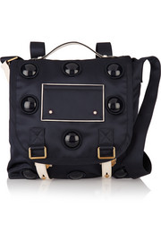 Marc Jacobs Big Trooper convertible leather-trimmed satin-twill backpack