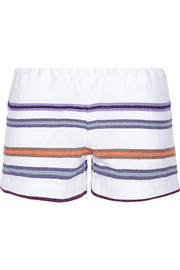 Kedame striped cotton-blend gauze shorts